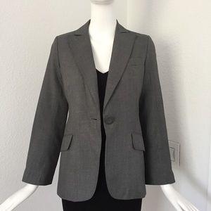Max studio gray single button silk blazer